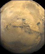 The Valles Marineris is a very distinctive feature on the surface of Mars
